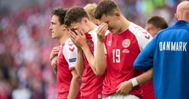 Danish soccer star Christian Eriksen collapses on field during Euro 2020 game